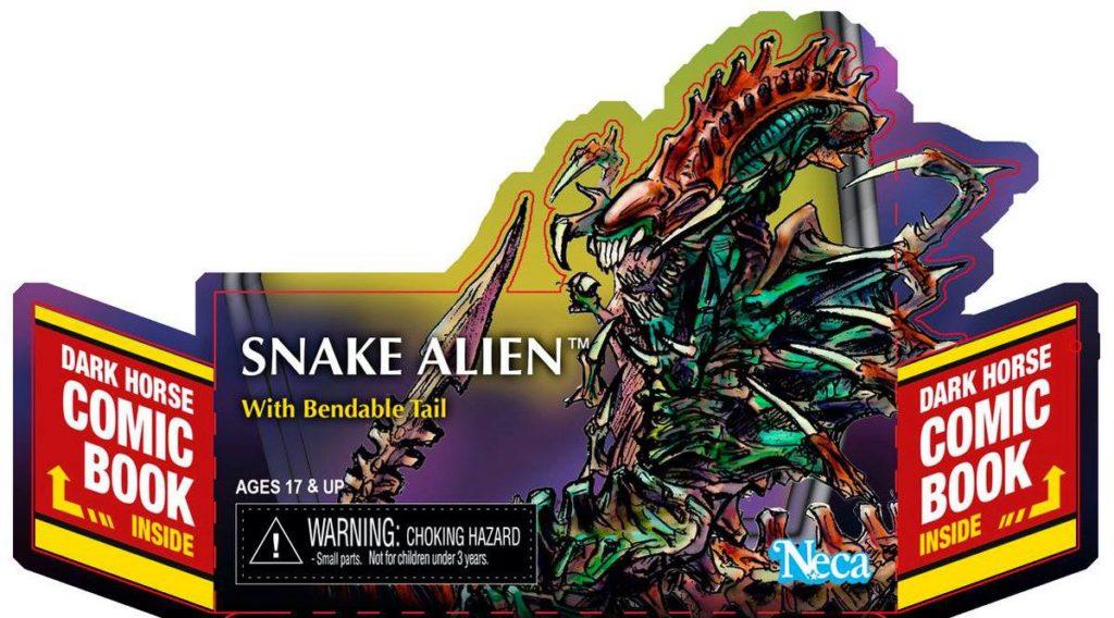 NECA Reveals Snake Alien Package Art    HIDEOUS PLASTIC